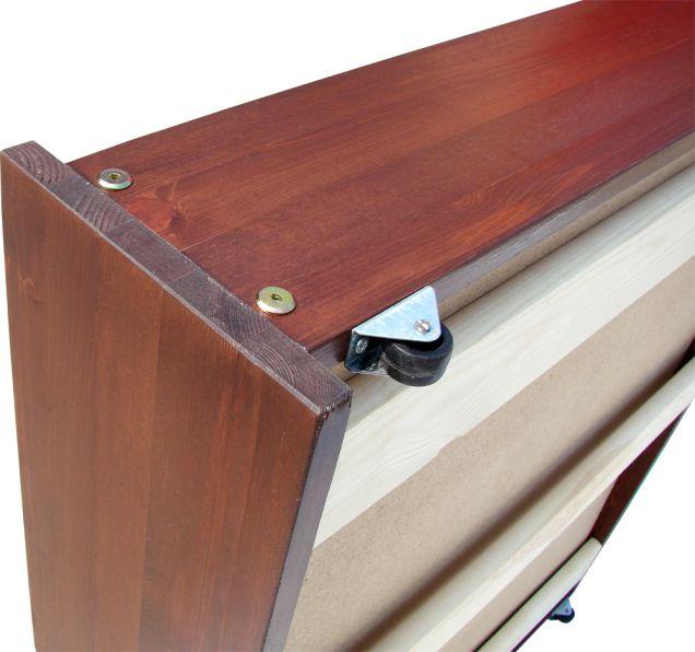 Как сделать выдвижной ящик для кровати своими руками 252